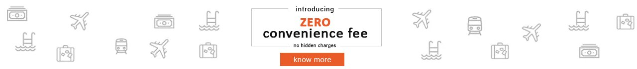 Zero Convenience Fees on all bookings